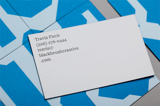 Business cards closeup