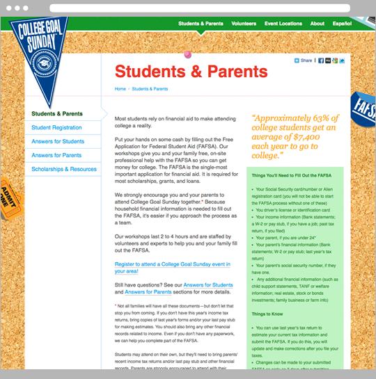 Website students & parents